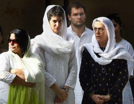 Sonia family attended Rajendra Vadra funeral 2009